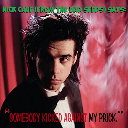 Album cover parody of Kicking Against The Pricks by Nick Cave & The Bad Seeds