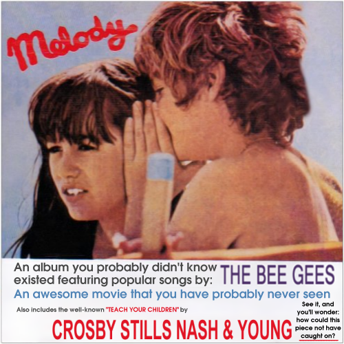 Album cover parody of Melody by Bee Gees & Crosby, Stills, Nash & Young