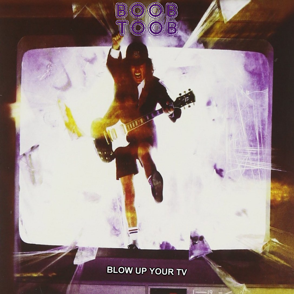 Album cover parody of Blow Up Your Video by AC/DC