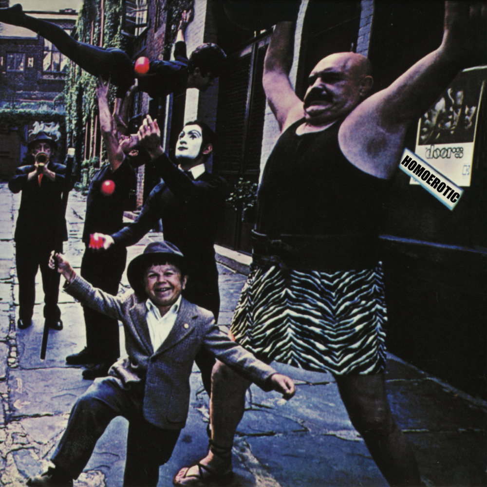 Album cover parody of Strange Days by The Doors