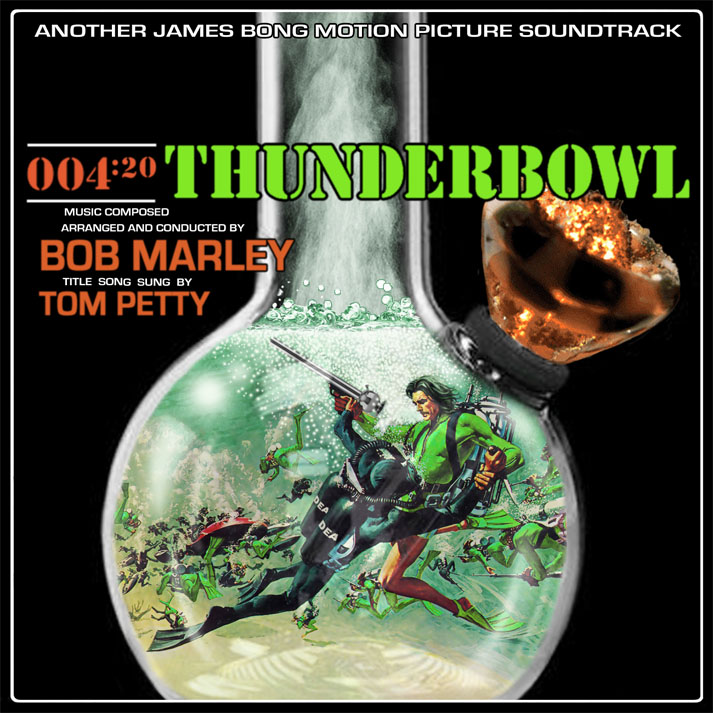 Album cover parody of Thunderball (Original Motion Picture Soundtrack) by Tom Jones Original recording remastered, Soundtrack edition (2003) Audio CD by James Bond - OST