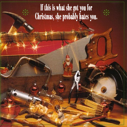Album cover parody of A Toolbox Christmas by Woody Philips
