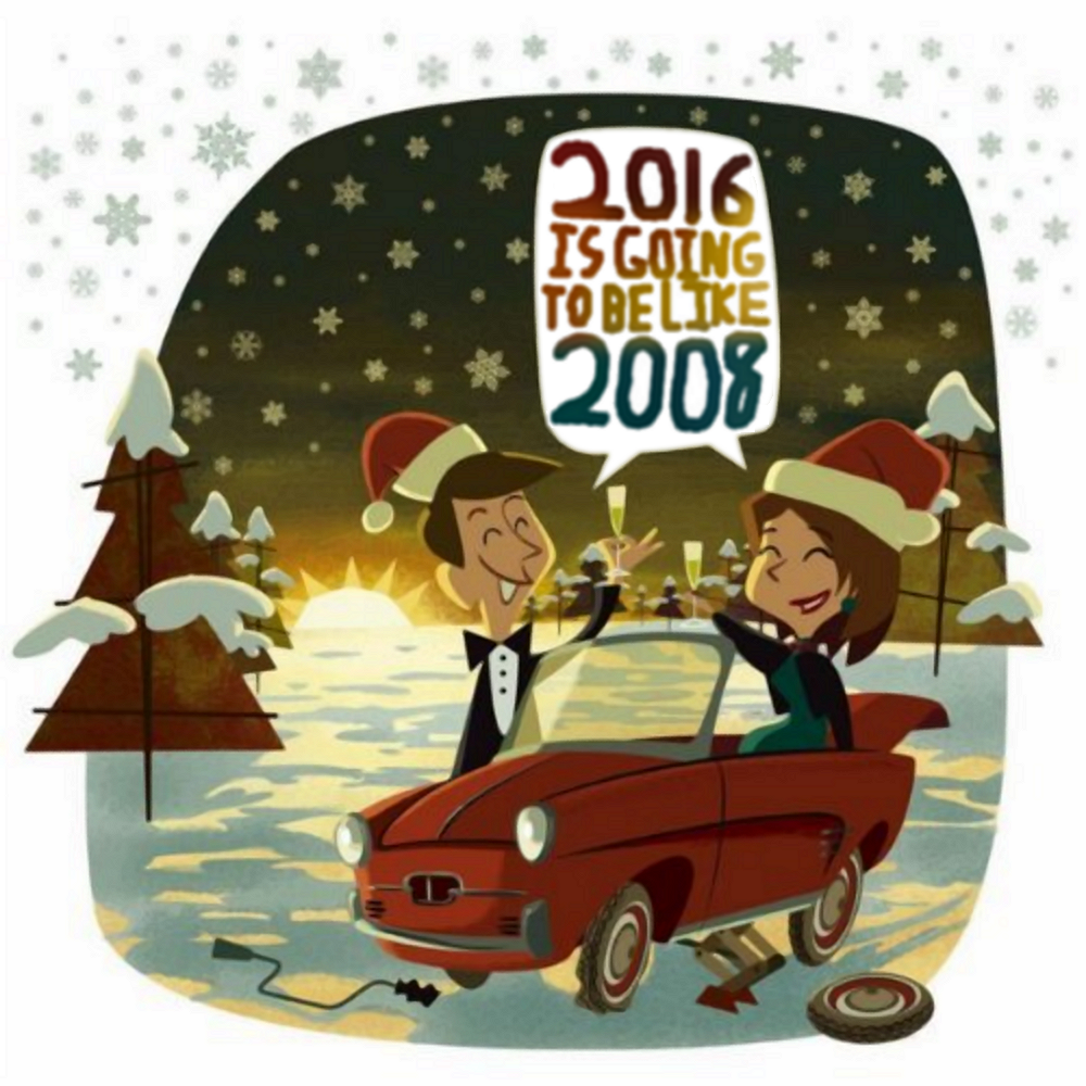 Album cover parody of Happy New Year 2008 by Various artists