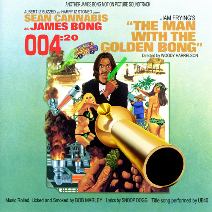 Album cover parody of The Man With The Golden Gun (1974 Film): Original Motion Picture Soundtrack by N/A (1999-01-12) by James Bond - OST