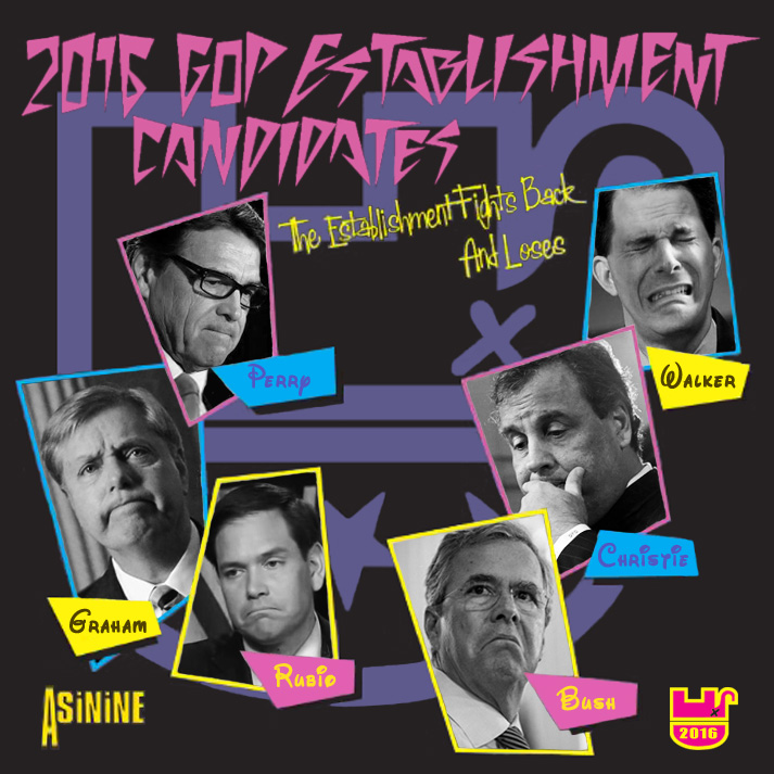Album cover parody of Rock And Roll - The Establishment Fights Back And Loses [ORIGINAL RECORDINGS REMASTERED] 2CD SET by The Establishment