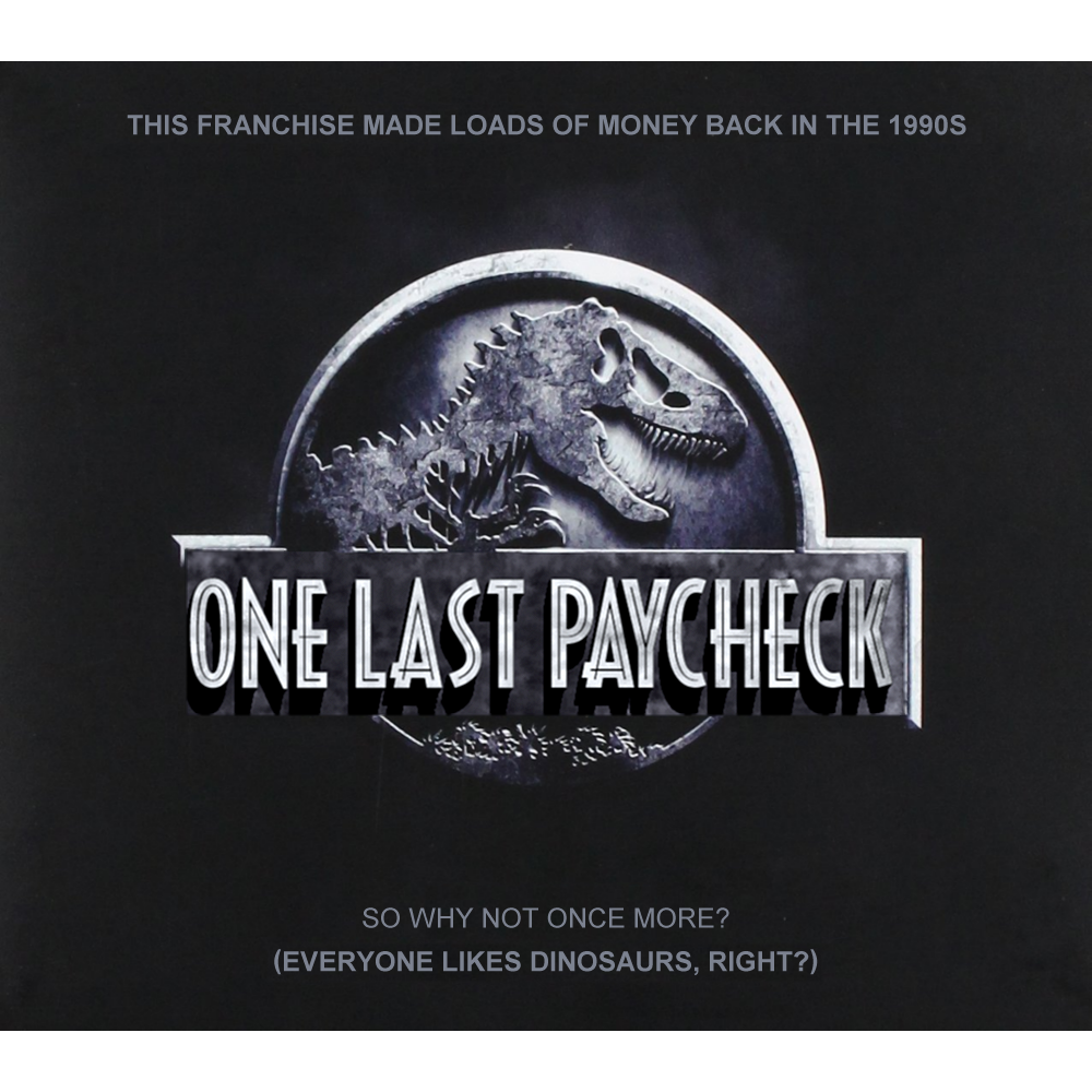 Album cover parody of Jurassic World (Original Motion Picture Soundtrack) by Michael Giacchino