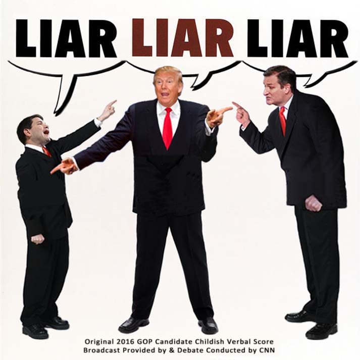 Album cover parody of Liar Liar: Original Motion Picture Score by unknown (1997-03-18) by Original Motion Picture Score
