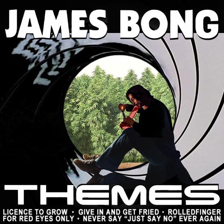 Album cover parody of James Bond Themes by Various (1996-02-26) by James Bond themes