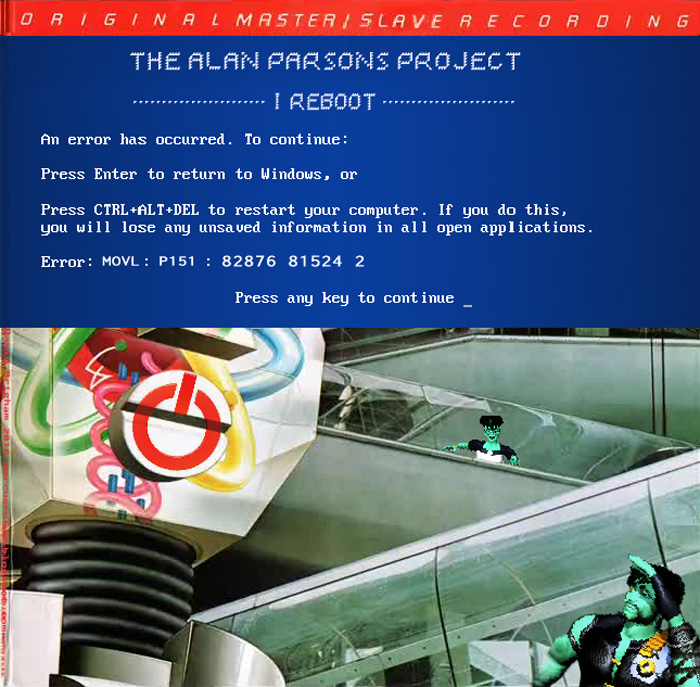 Album cover parody of I Robot by Alan Parsons