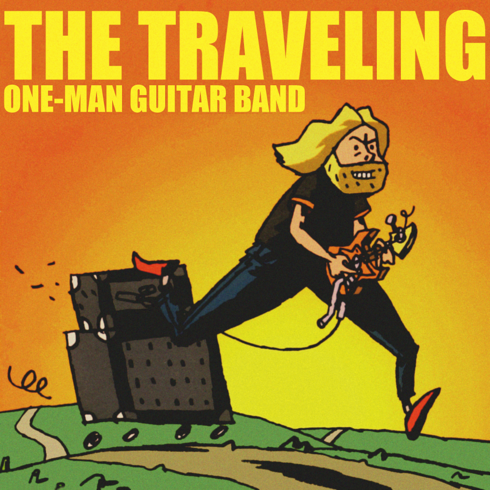 Album cover parody of Freak Guitar: The Road Less Traveled by Mattias IA Eklundh