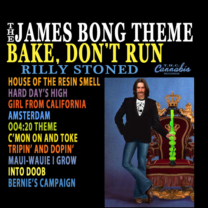 Album cover parody of The James Bond Theme / Walk, Don't Run, '64 by James Bond themes