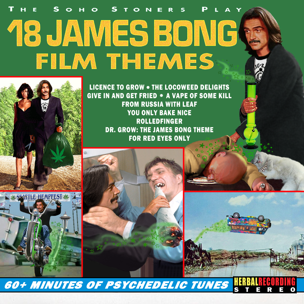Album cover parody of 18 James Bond Film Themes by Soho Strings (1995-11-28) by James Bond themes