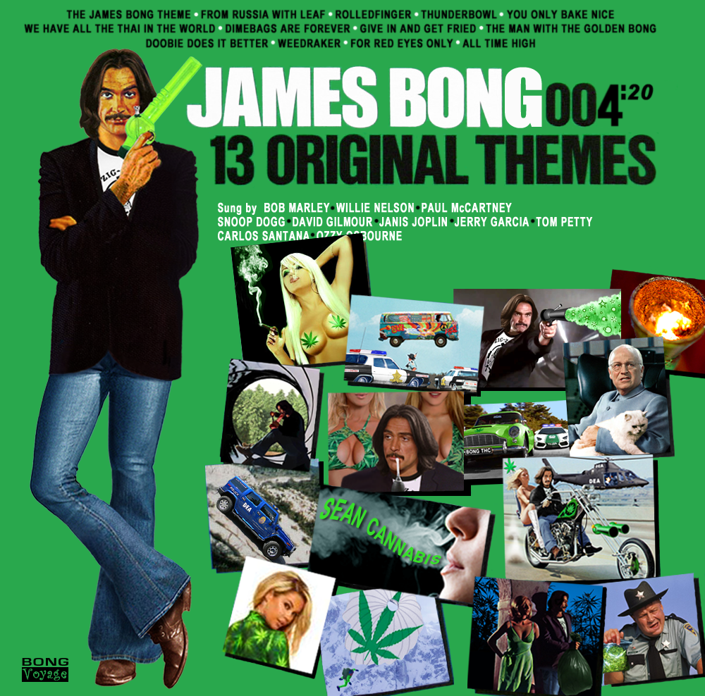 Album cover parody of James Bond 007: 13 Original Themes by James Bond themes