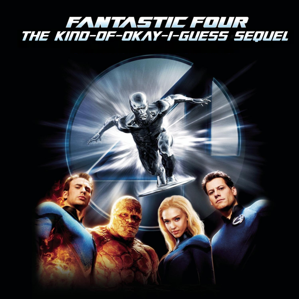 Album cover parody of Fantastic Four: Rise of the Silver Surfer - Original Motion Picture Soundtrack by John Ottman
