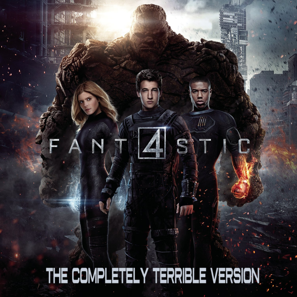 Album cover parody of The Fantastic Four (Original Motion Picture Soundtrack) by Marco Beltrami & Philip Glass