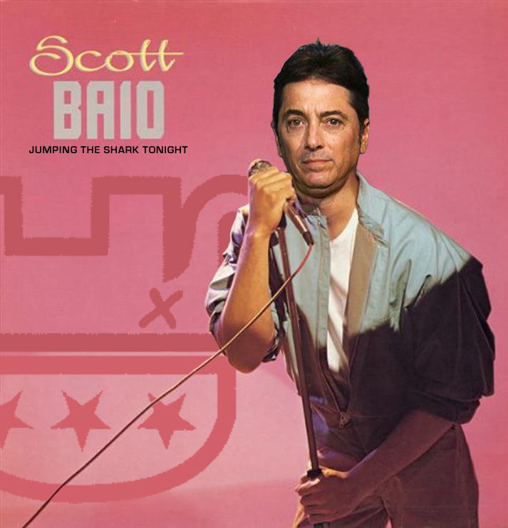 Album cover parody of The Boys Are Out Tonight by Scott Baio