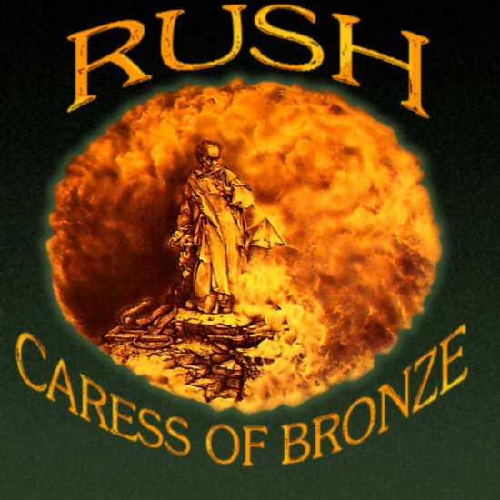 Album cover parody of Caress Of Steel by Rush