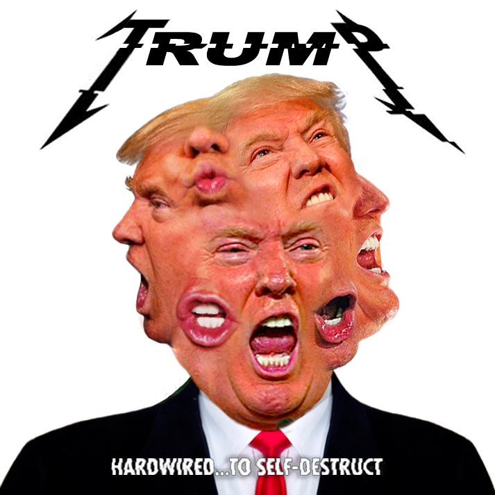 Album cover parody of Hardwired...To Self-Destruct (Limited Deluxe Edition) by Metallica