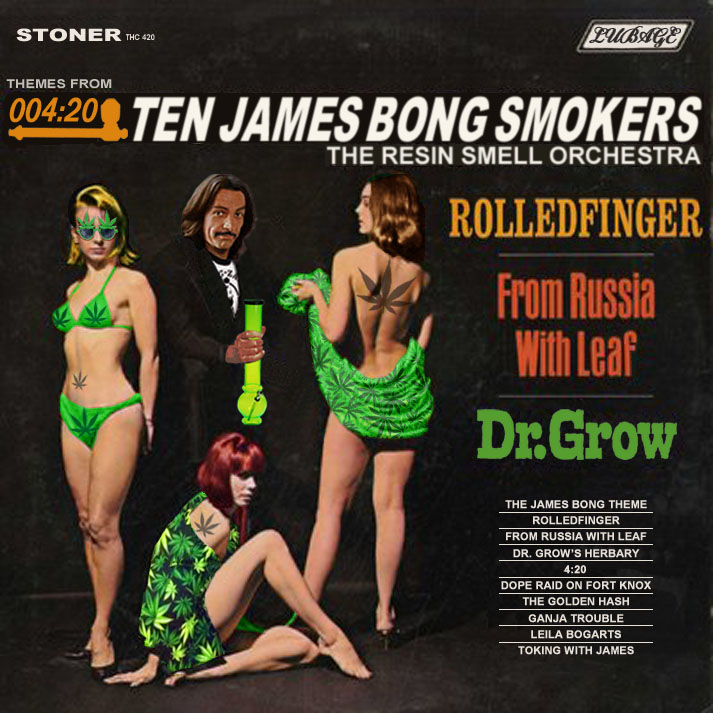 Album cover parody of ROLAND SHAW ORCHESTRA 007 james bond themes thrillers LP Used_VeryGoodPS 412 Vinyl 1965 by James Bond themes