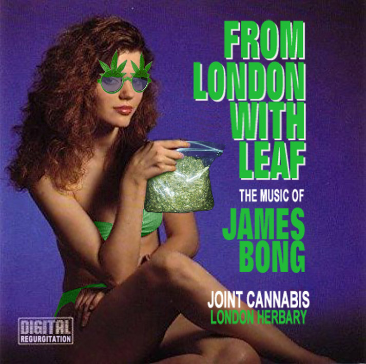 Album cover parody of From London with Love: Music of James Bond (Cheesecake) by James Bond themes