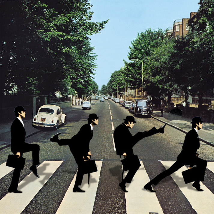 Album cover parody of Abbey Road [Vinyl LP] by The Beatles