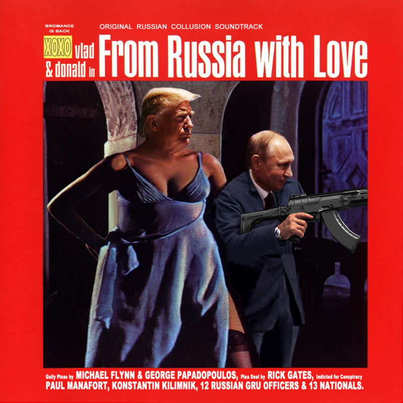 Album cover parody of From Russia with Love/O.S.T. by Original Motion Picture Soundtrack