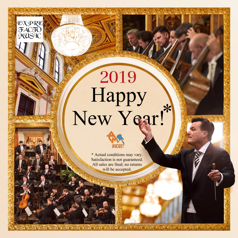 Album cover parody of New Year's Concert 2019 / Neujahrskonzert 2019 by Christian Thielemann & Wiener Philharmoniker