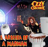 Album cover parody of Diary Of A Madman by Ozzy Osbourne