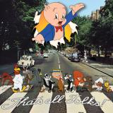 Album cover parody of Abby Road by The Beatles