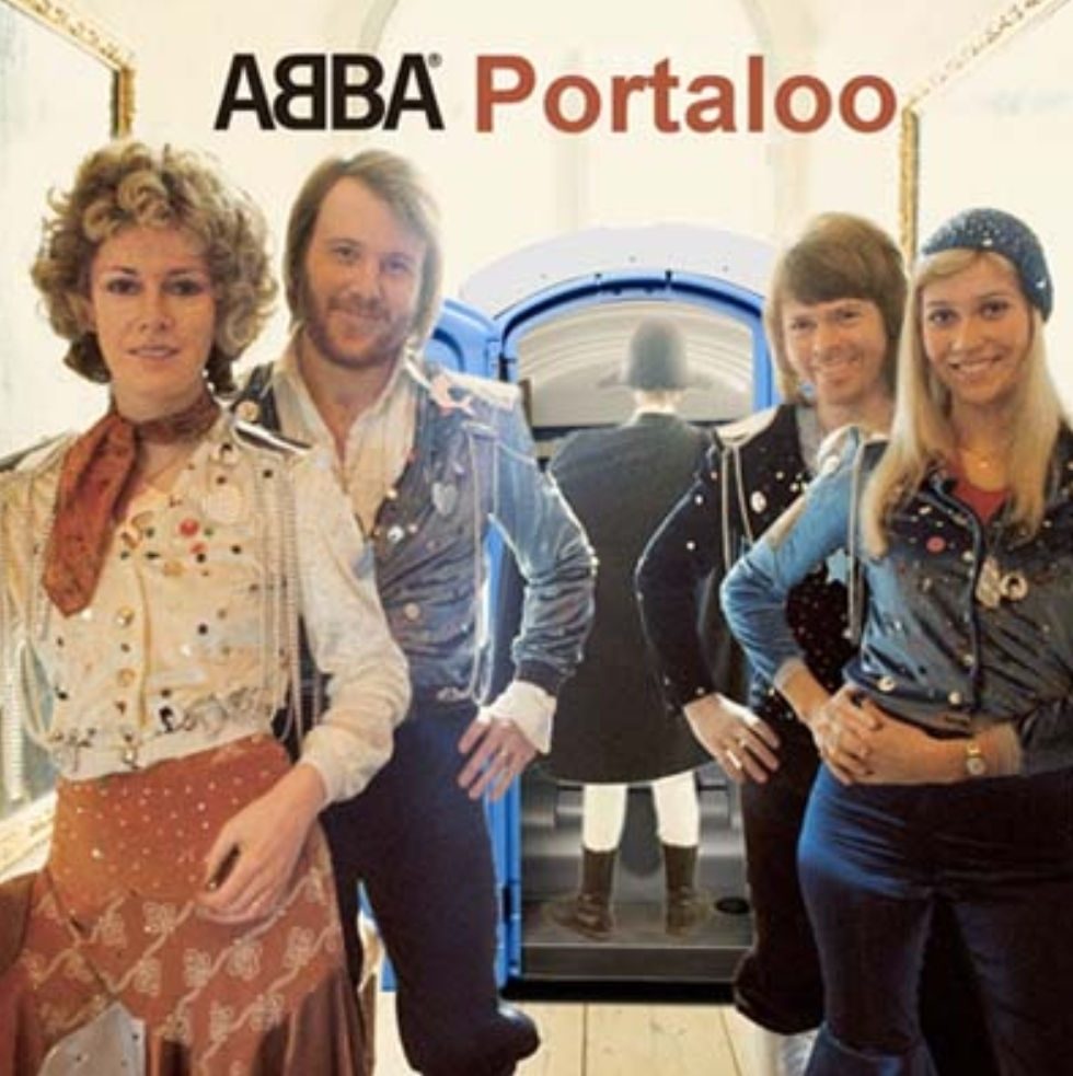 Album cover parody of Waterloo: Deluxe Edition by ABBA